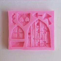 Silikonová forma - dveře, okno a příslušenství